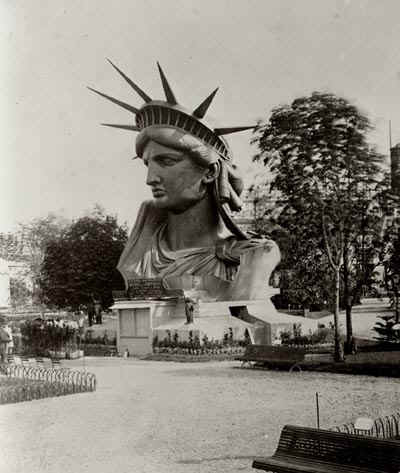 The head of Statue of Liberty on display in France at the Paris Exposition of 1878!